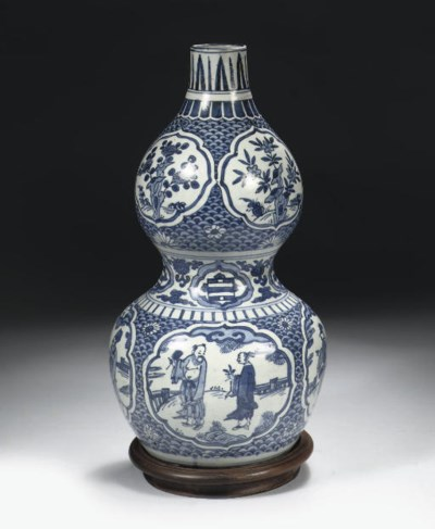 A late Ming blue and white dou