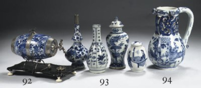 A Chinese blue and white puzzl