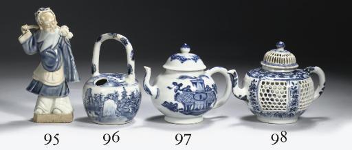A rare blue and white vessel