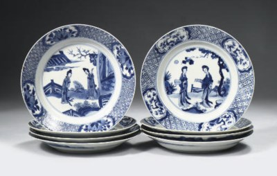 Two sets of plates