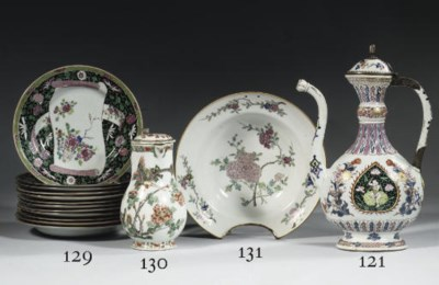 A set of twelve famille rose p