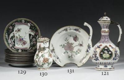 A famille rose barber's bowl