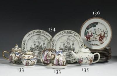A set of twelve famille rose '