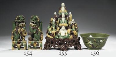 A biscuit sancai-glazed Buddhi