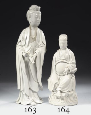 A blanc-de-Chine figure of a d