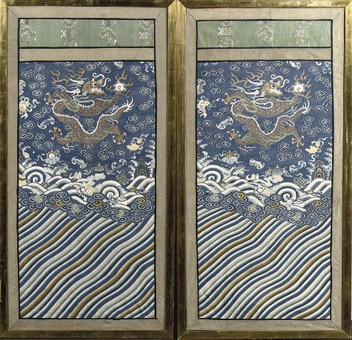 A pair of kesi panels