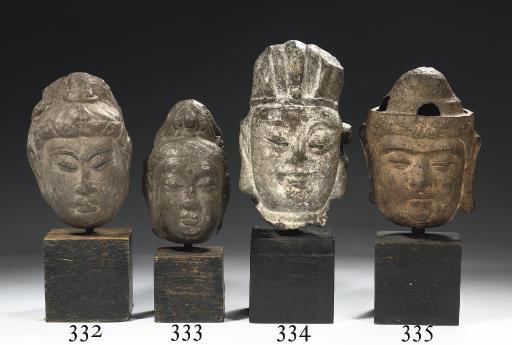 A Ming dynasty iron head of Gu