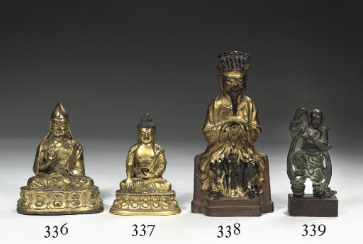 A Ming Dynasty gilt, black and