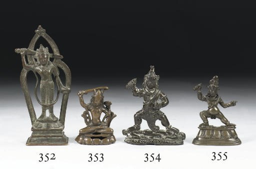 A Tibetan bronze figure of Vaj