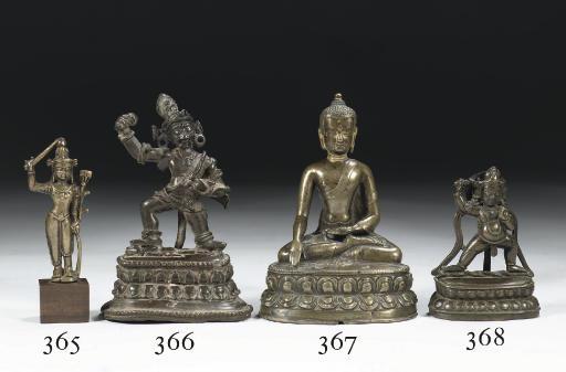 A Tibetan bronze figure of Man