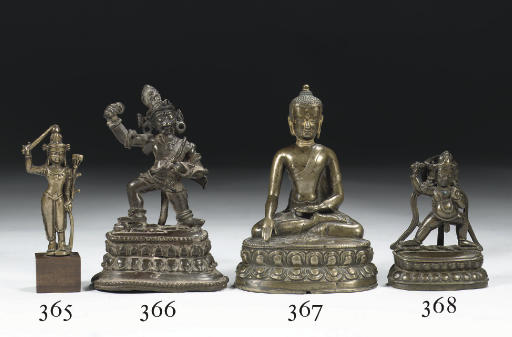 A Tibetan bronze figure of Aca