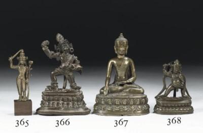 A Tibetan bronze figure of Aca