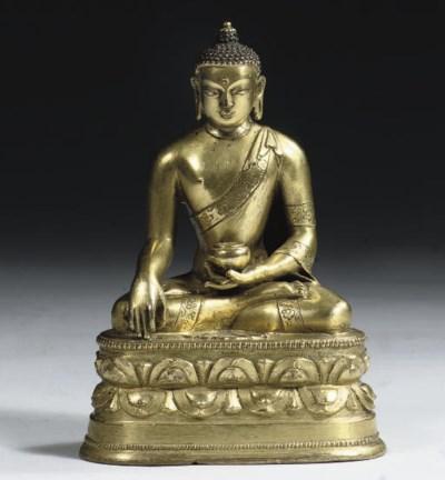 A Mongolian gilt-bronze figure