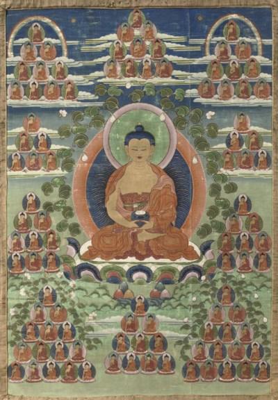 A Tibetan thang.ka depicting A