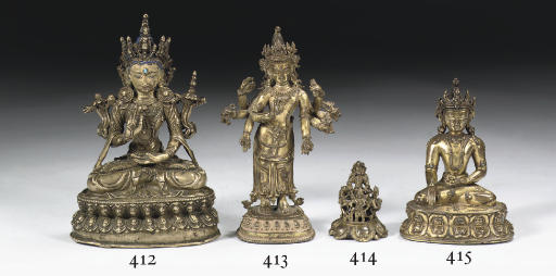 A Tibetan bronze figure of Mai