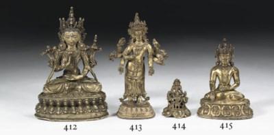 A Nepalese gilt-copper figure