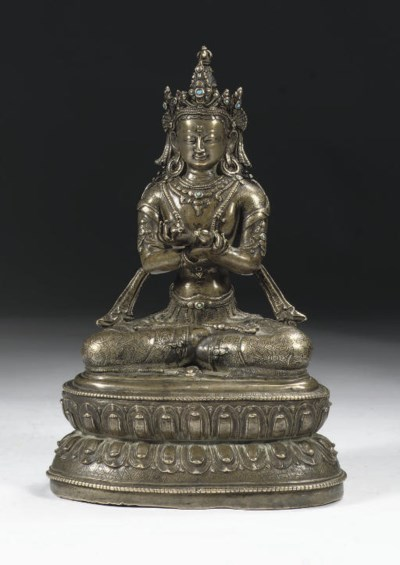 A Tibetan bronze figure of Vaj