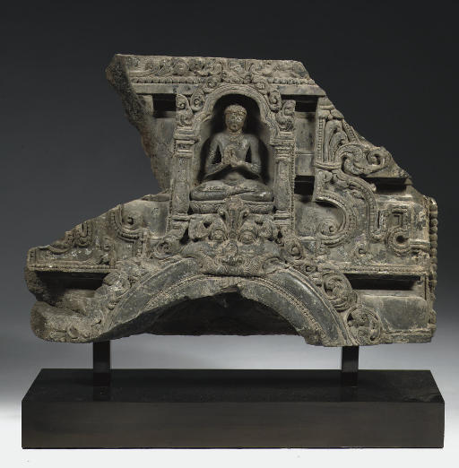A Northeast Indian, Pala period, phyllite stone architectural fragment