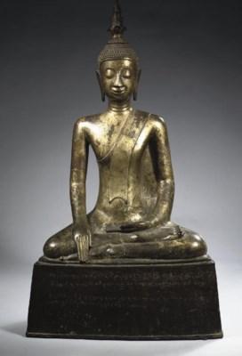 A North Thai or Laos gilt-bron