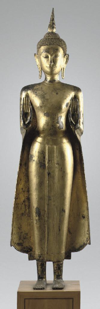 A Thai, Ayutthaya style, gilt-