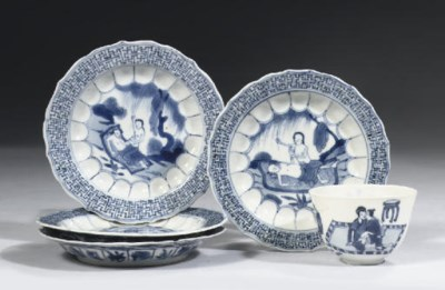 A set of four Chinese 'acapunc
