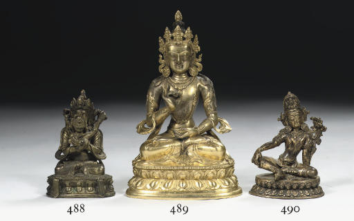 A Nepalese gilt-copper figure