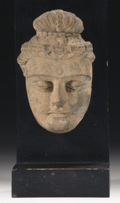 A Gandhara, Hadda, stucco head
