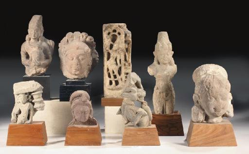 Seven Central Indian sandstone