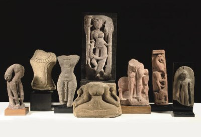 Eight Indian stone fragments