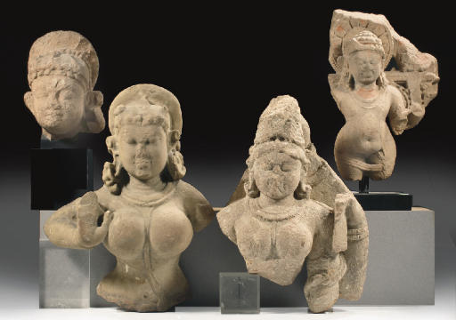 Four Central Indian stone frag