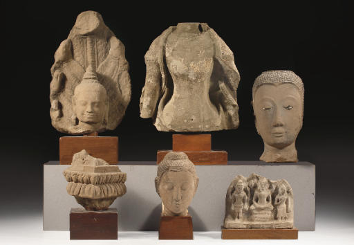 Six Southeast Asian sandstone