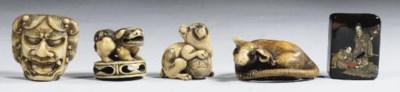 Eight netsuke and two ojime