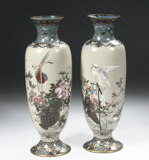 Two cloisonne vases