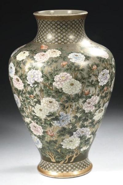 A satsuma baluster vase