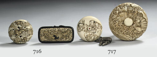 An ivory and a walrus manju-ne
