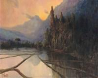 Sawah landscape at dusk