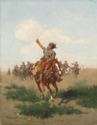 Cossacks on horseback