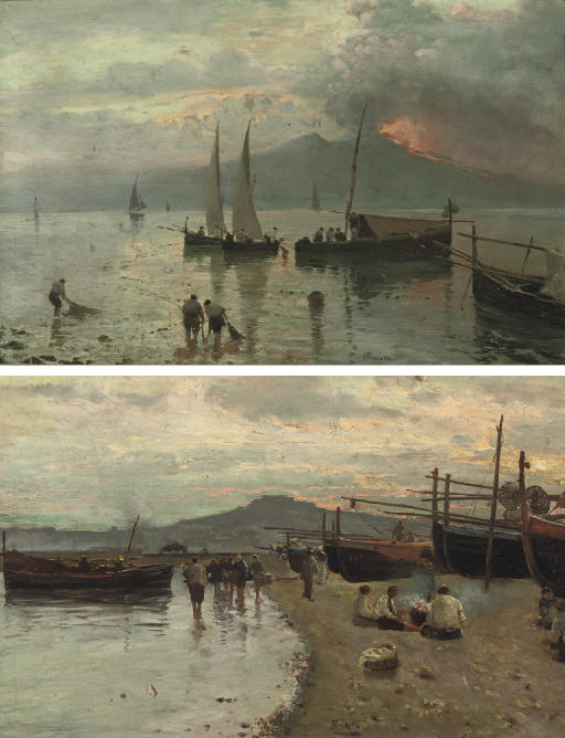Fishermen in the bay of Naples