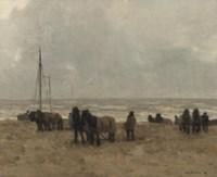 Strand: working on the beach