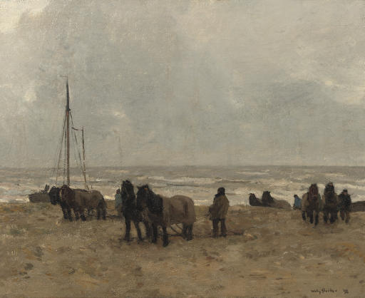 Strand: working on the beach