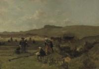 Mending the nets in the dunes of Scheveningen