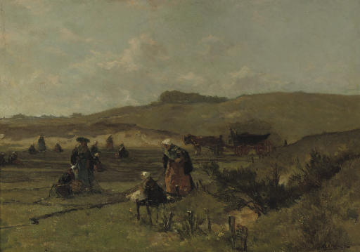 Mending the nets in the dunes of Scheveningen