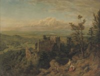 Die burgruine Hohenbaden: looking out over the Rhein valley, Baden Baden