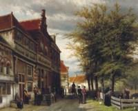 Huizen van Bossu te Hoorn: a busy day at the Slapershaven