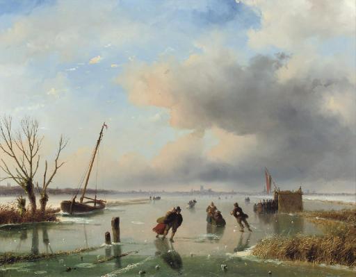 Skaters near Dordrecht