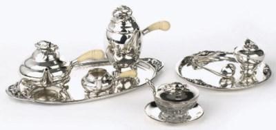 An extensive Danish silver tea