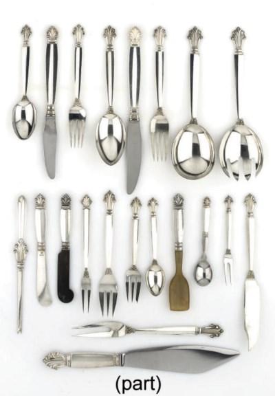 A Danish silver Table-service