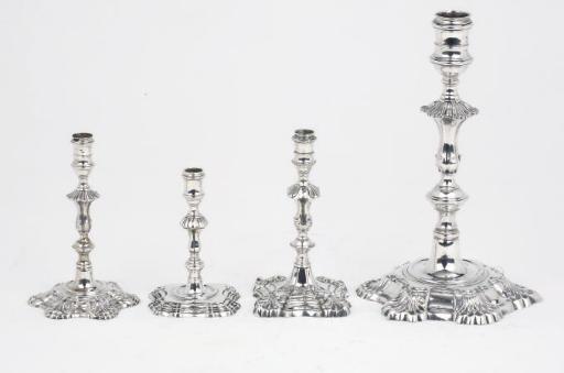 A George II silver candlestick