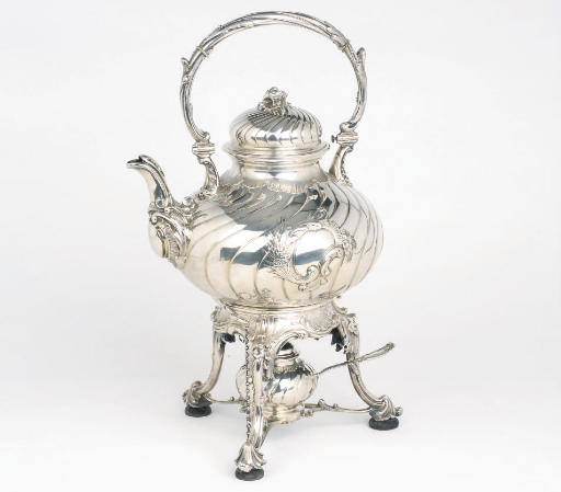 A Dutch silvet tea-kettle and