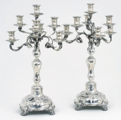 A pair of German silver seven-